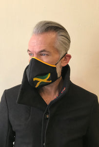 5M - VP2 MASK - POLYPROPYLENE-BACKED  COTTON || JAMAICANS AGAINST COVID-19