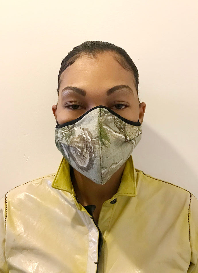 5M - VP2 MASK - POLYPROPYLENE-BACKED LINEN || FLOWER CAMO