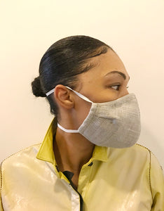 5M - VP2 MASK - POLYPROPYLENE-BACKED ORGANIC LINEN || NATURAL