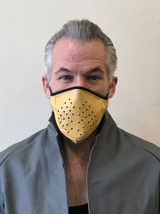 5M - VP3 SELF-FILTERING MASK - PERFORATED LEATHER || YELLOW