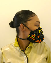 Load image into Gallery viewer, 5M-  VP2 MASK - POLYPROPYLENE-BACKED PRINTED COTTON || SENEGALESE PRINT