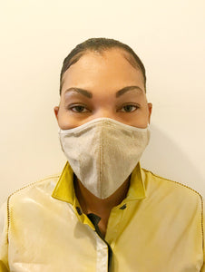 5M - VP2 MASK - POLYPROPYLENE-BACKED TUSSAH SILK || ECRU
