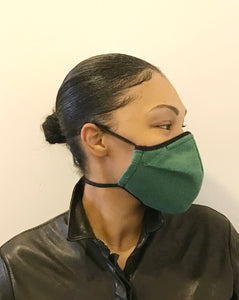 5M - VP2 MASK - POLYPROPYLENE-BACKED SILK-LINEN || GREEN