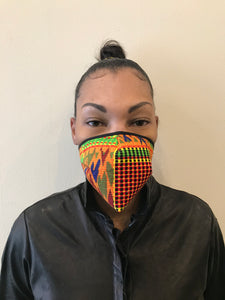 5M - VP1 SELF-FILTERING MASK - PRINTED COTTON || AFRO PRINT A