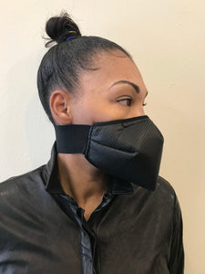 5M - VP1 SELF-FILTERING MASK - PERFORATED LEATHER || BLACK