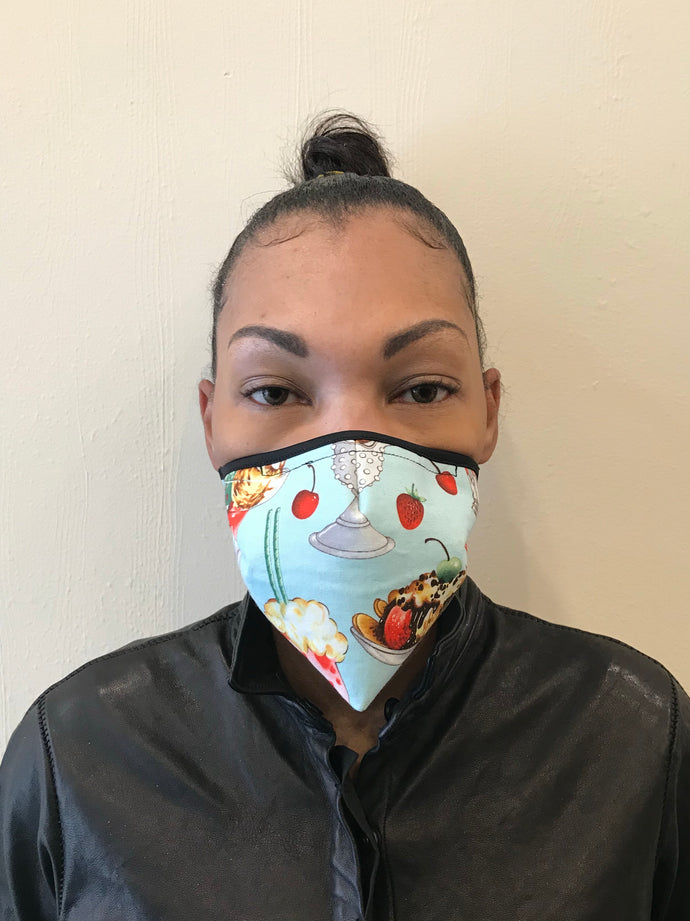 5M - VP1 SELF-FILTERING MASK - PRINTED COTTON || SUNDAE