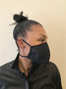 5M - VP2 MASK - POLYPROPYLENE-BACKED 100% SILK || POLKA DOT