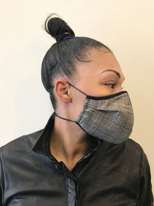 5M - VP2 MASK - POLYPROPYLENE-BACKED WOOL || PRINCE OF WALES CHECK