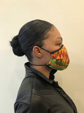 Load image into Gallery viewer, 5M - VP2 MASK - POLYPROPYLENE-BACKED PRINTED COTTON || AFRO PRINT A