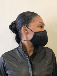 5M - VP2 MASK - POLYPROPYLENE-BACKED PERFORATED LEATHER || BLACK