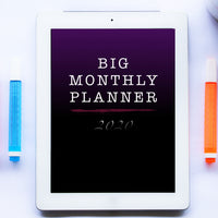 Portrait Monthly Planner