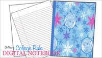 3 Prong Notebook | Frozen Sisters