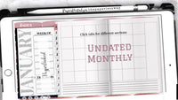 Pink Bliss | Undated Weekly Hobonichi Digital Planner