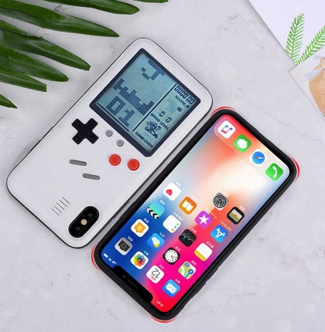 Capinha Retro Gameboy com Tetris para Iphone X XR XS Max