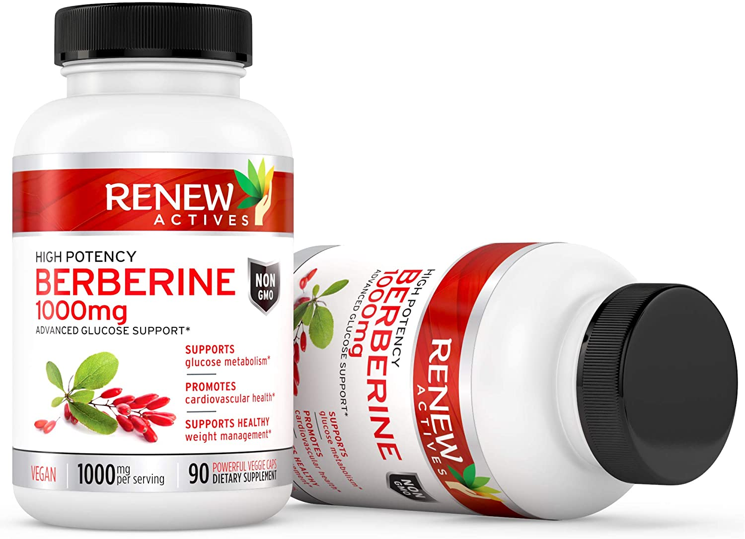 Renew Actives High Potency Berberine 1000mg - 90 Capsules
