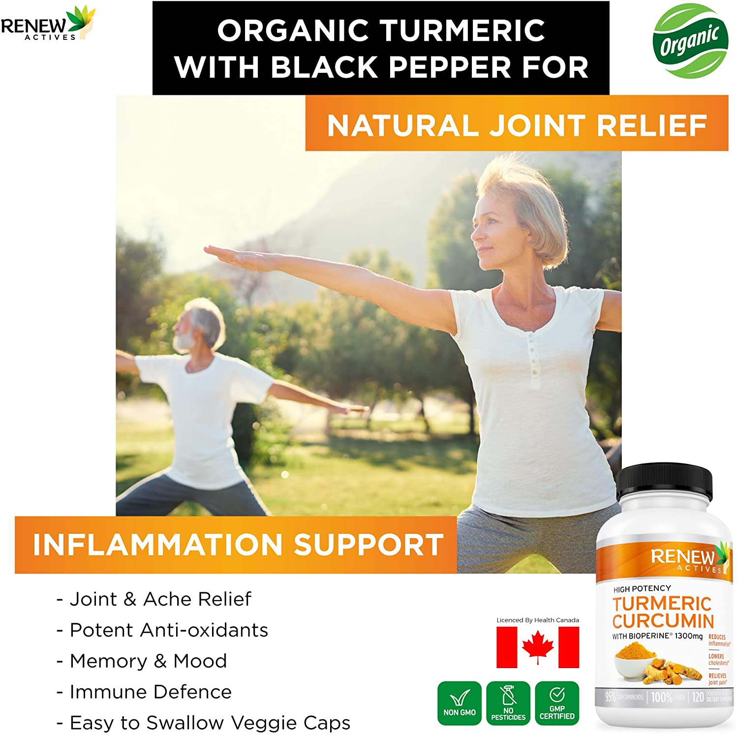 DOUBLE STRENGTH TURMERIC + BLACK PEPPER Capsules