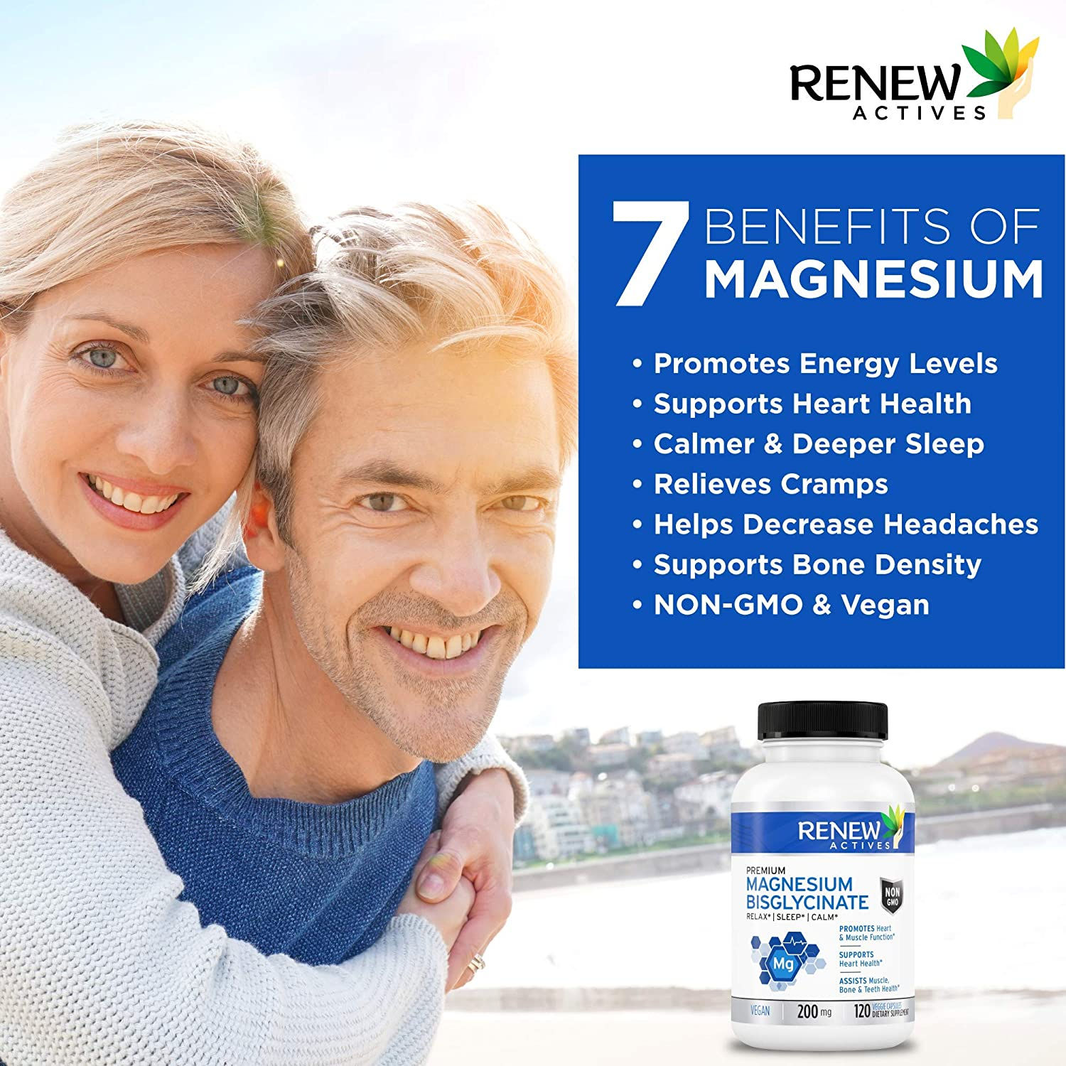 Renew Actives Magnesium Glycinate Supplement 200 mg