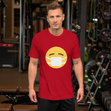 Load image into Gallery viewer, Emoji W/ Mask Short-Sleeve Unisex T-Shirt