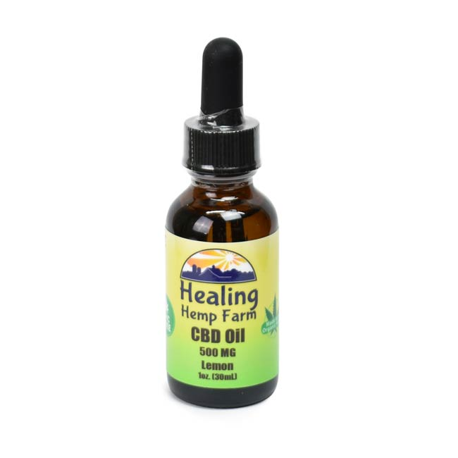 CBD Oil - THC Free Lemon 500MG