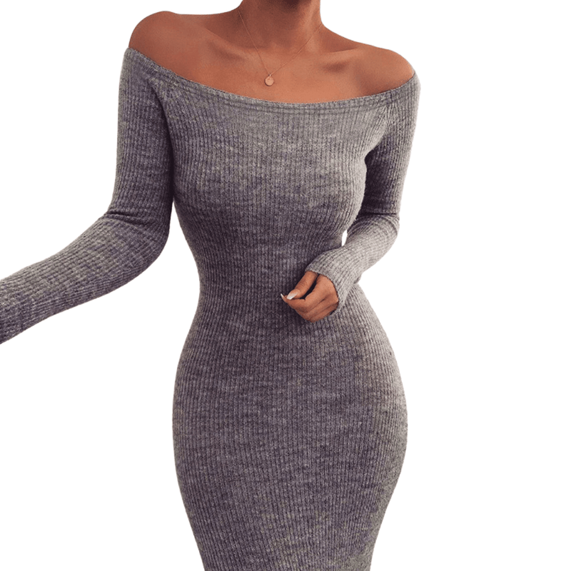 Wish Wisely Off The Shoulder Long Sleeve Dress - Taylar Diarra