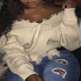 Can I Stay Off The Shoulder Sweater - Taylar Diarra