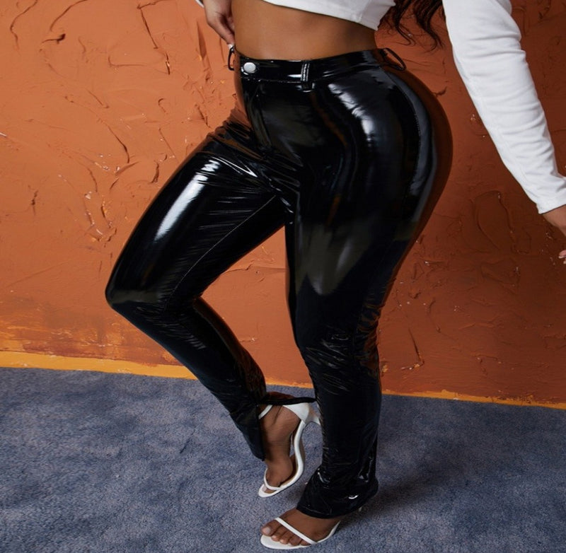 Chase The Bag Leather Pants - Taylar Diarra