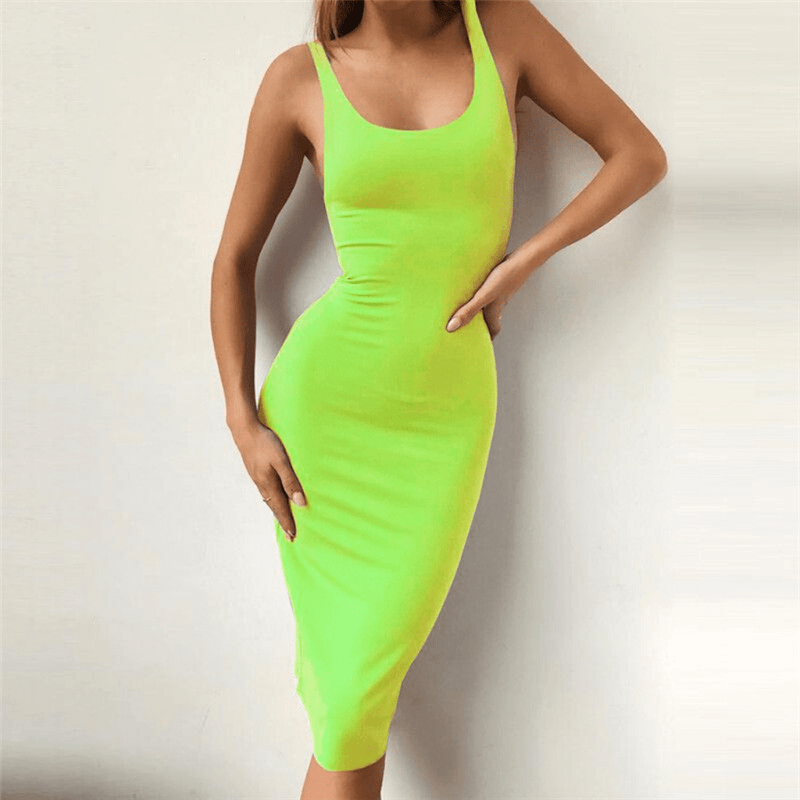 Basic Midi Bodycon Dress - Taylar Diarra