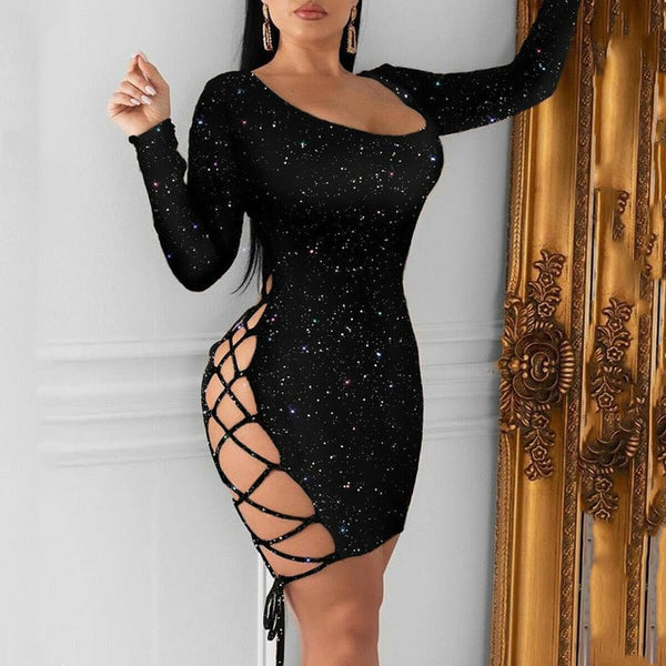 Center Stage Long Sleeve Bodycon Dress - Taylar Diarra