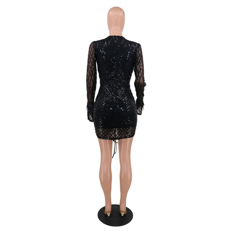 Bad And Boujie Sequin Mini Dress - Taylar Diarra