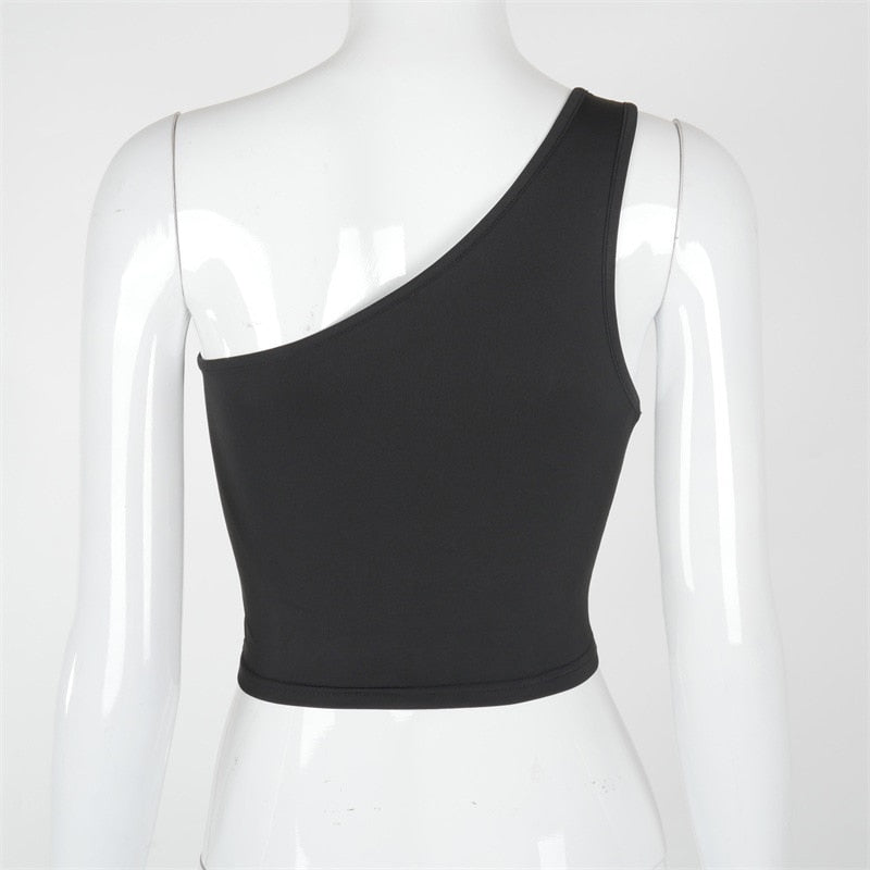 Mind Yours One Shoulder Crop Top - Taylar Diarra