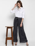 FLARED STRIPED PALAZZOS