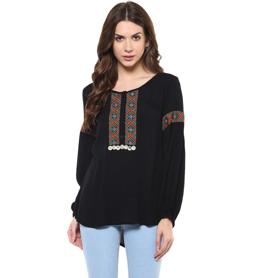 Black Embroidery Top 2