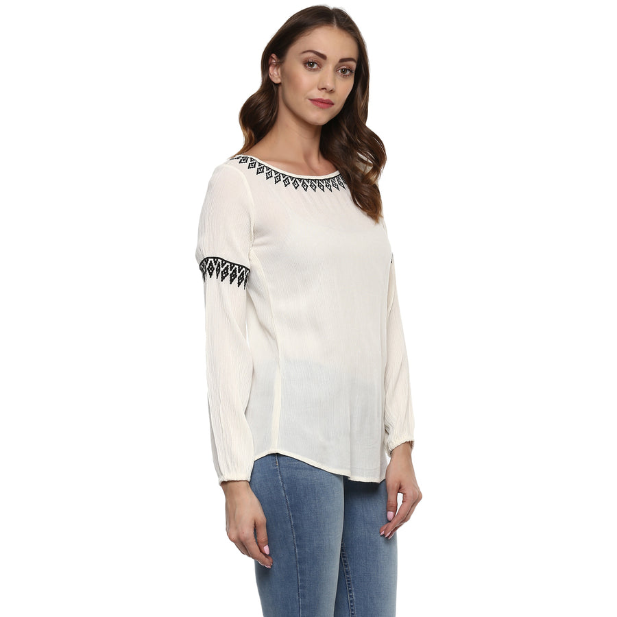 Cube Embroidered Top