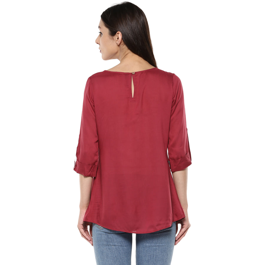 Layered Pleated Top