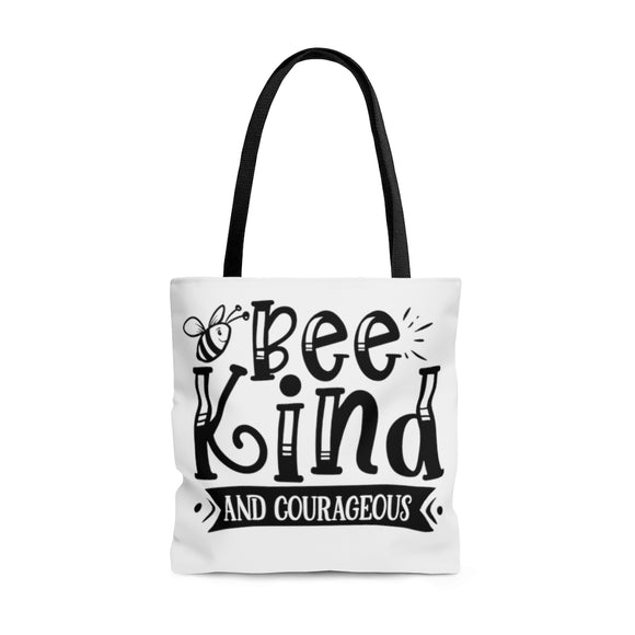 AOP Tote Bag - Bee Kind and Courageous