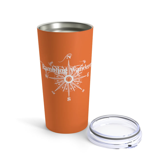 Tumbler 20oz - Rambling Wanderer - Dusty Orange