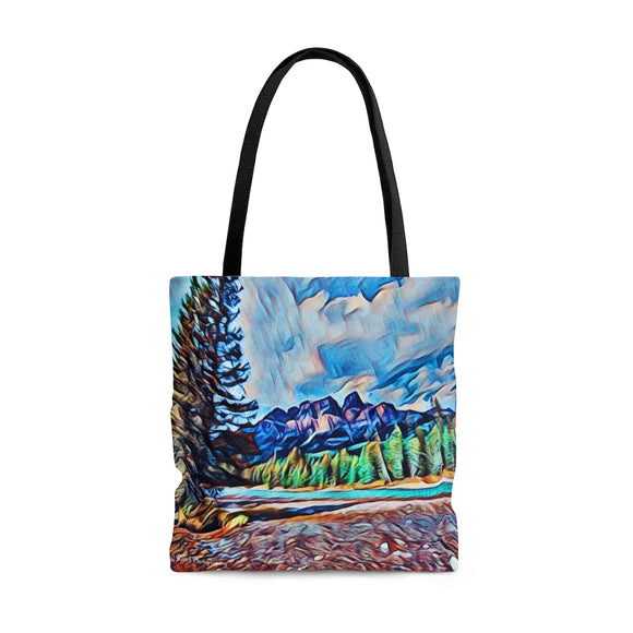 AOP Tote Bag - Bow River and Castle Mountain