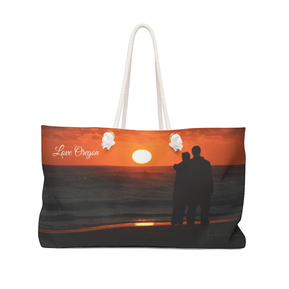 Weekender Bag - Oregon Coast Couple - Love Oregon