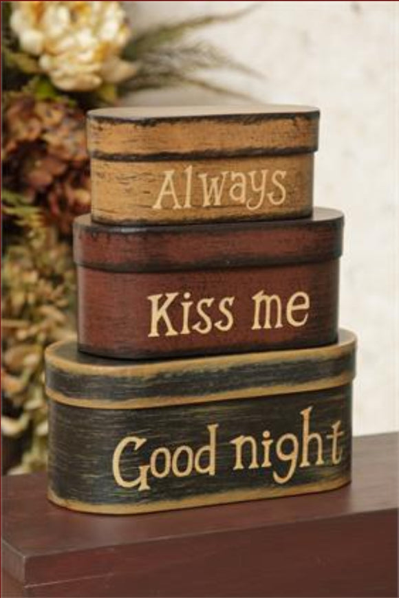 Always Kiss Me Goodnight Nesting Boxes