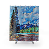 Shower Curtains - Bow River and Castle Mountain