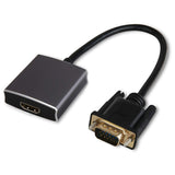Adaptor convertor VGA (tata) la HDMI (mama) cu sunet port audio jack 3.5mm