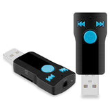 Adaptor Bluetooth audio USB Plug&Play cu microfon integrat si slot card TF