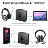 Transmitator - Receptor bluetooth 2 in 1 pentru TV , Playere audio, masina