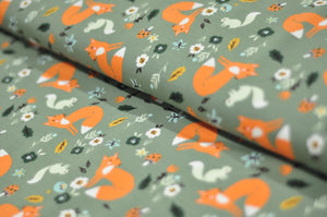 Green Fox French Terry - £16.90/m (£8.45/50cm)