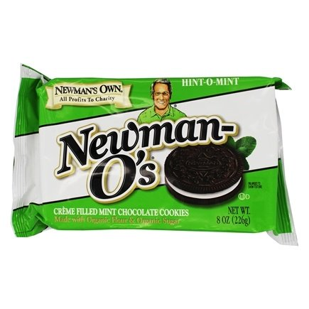 Newman-O's Hint-O-Mint Creme Filled Mint Chocolate Cookies