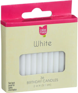 Cake Mate White Birthday Candles