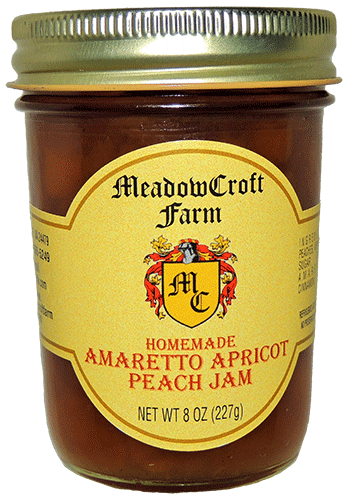 MeadowCroft Farm Amaretto Apricot Peach Jam