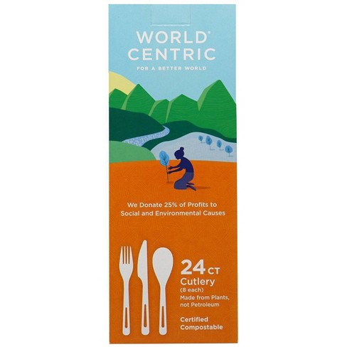 World Centric Certified Compostable Forks (24ct)