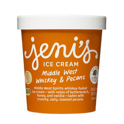 Jeni's Middle West Whiskey & Pecans Ice Cream (pint)