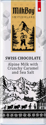 Milkboy Alpine Milk with Crunchy Caramel and Sea Salt Swiss Chocolate